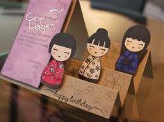 very cute step card! Stamp set by Hero Arts