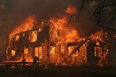 the night of the fire...Gandeline Inn