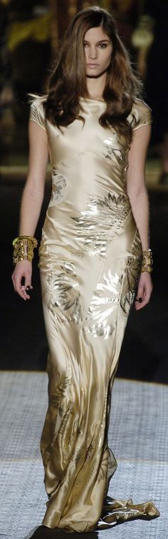 Roberto Cavalli  Oh! If I could wear this... I SOOOOOO would... This is a statement dress if I ever saw one... Absolutely the most beautiful dress I have ever seen!