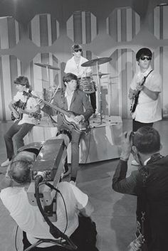 rehearsing for Ed Sullivan Feb 16th, 1964