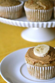 Peanut Butter Banana Oatmeal Muffins from annies-eats.net -- peanut butter, bananas and oats are always a good way to start the day. Looks like this recipe would be easily veganized subbing flaxseed slurry for eggs and dairy-free milk with a splash of vinegar for the buttermilk.
