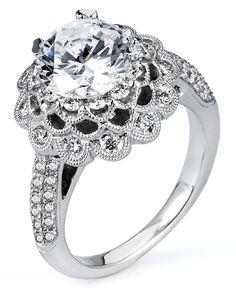 2.82 ctw EGL 18k White Gold E SI1 Round Brilliant Diamond Engagement Ring
