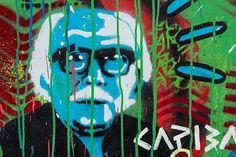 """Coletivo Vacilante - Arte Urbana no Carnaval do Recife - Escola de Frevo Maestro Fernando Borges. Com agenciamento da Nuvem e com o """"maestro"""" Carlos Augusto Lira (arquiteto que assina o decor do Carnaval) os painéis produzidos irão dar vida as ruas e também são a base visual para o projeto cenográfico. A arte da rua do povo para o povo. Viva a Arte! Viva o Carnaval! Foto: Fred Jordão #carnaval2017 #SIMCarnavaldoRecife #arte  #grafite"""