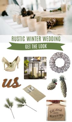 Rustic Winter Wedding : Get the Look