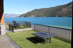 Gorgeous backyard installation done on Kalamalka Lake, BC by Canada Synthetic Turf International.