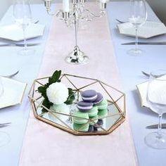Metal Decorative Serving Trays - Octagon Mirrored Vanity Tray | eFavorMart Mirrored Serving Tray, Serving Tray Decor, Mirror Vanity Tray, Mirrored Vanity, Octagon Mirror, Tray Styling, Brass Color, Gold Material, Decorative Accessories