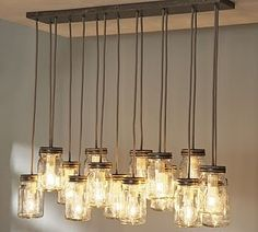Love this idea for mason jars! I would take it a step further and find antique jars in a tinted color!