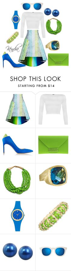 """""""My Future So Bright I Gotta Wear Shades """" by k1974johnson1117 ❤ liked on Polyvore featuring Peter Pilotto, WearAll, Brian Atwood, VBH, Betty Carré, Kate Spade, Tiffany & Co., Honora and Quay"""