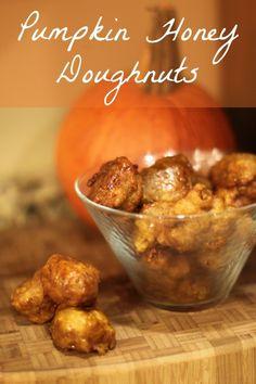 Pumpkin Honey Doughnuts Recipe for Fall :: Pumpkin Honey Doughnuts - Pumpking Recipes
