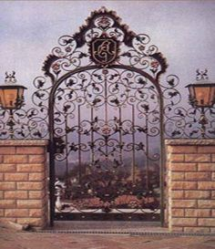 Would love to use a gate like this, add a mirror backing and insert into a fence or screen to create the illusion of an entrance to a secret garden in my yard.