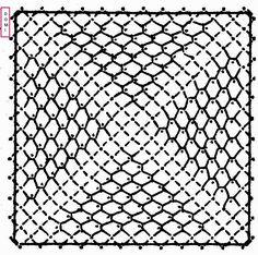 Le carré n° 17 est réaliséavec un fond qui ne manque pas de noms :Alençon, de Tulle, de Lille ou bien filoche.              Si vous réali...