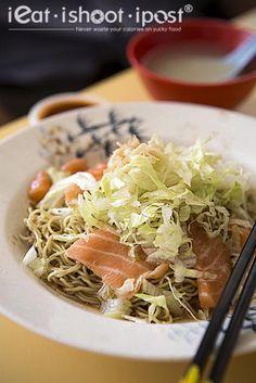 Salmon noodles $4.50