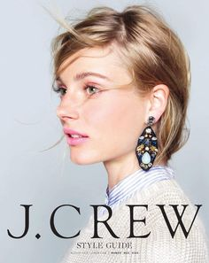 J.Crew Embroidered Jewel Earrings (J.Crew Style Guide, August 2013)