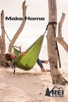 Make home in a way that means something to you—like bringing a swinging, sprawling hammock built for two. Shop ENO hammocks on REI.com. #LetsCamp