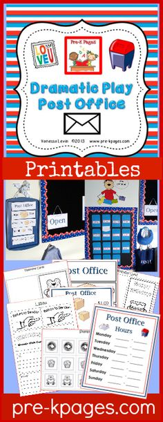 Dramatic Play Post Office Printables for #preschool and #kindergarten