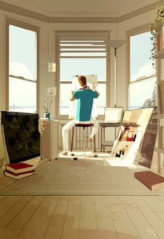 ⌨DO NOT DISTURB by Pascal Campion⌨ #pascalcampion #paintings #artwork
