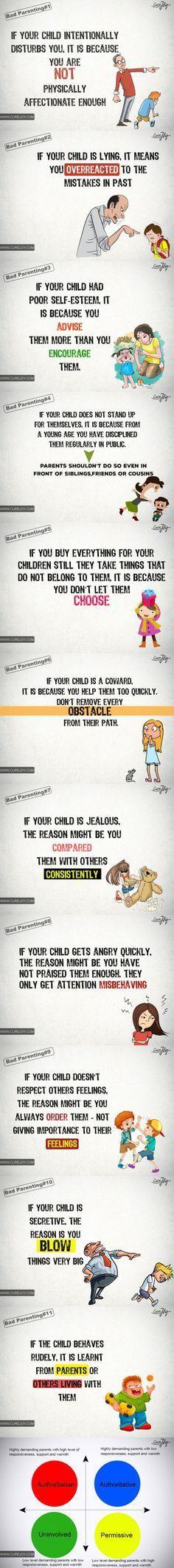Algunos errores en la crianza, tienen consecuencias directas sobre el comportamiento de nuestros hijos
