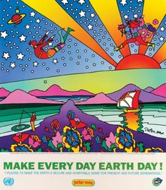 peter max earth day poster