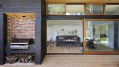 Adrian Bonomi Architect designed Summer Beach House, a home in Somers, Australia that uses passive solar principles for thermal comfort year-round. Australian Architecture, Australian Homes, Wooden Summer House, Brick Cladding, Brick Facade, Clad Home, Recycled Brick, Passive Solar Homes, Solar House