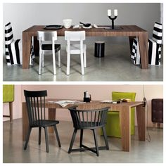 Gervasoni, project by Paola Navone: Sweet 38 table.