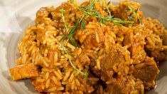 Reisfleisch Curry, Fried Rice, Andreas, Fries, Food And Drink, Healthy Recipes, Chicken, Ethnic Recipes, Risotto