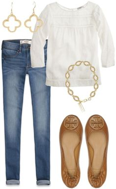 Casual spring look. Mode Outfits, Fall Outfits, Casual Outfits, Fashion Outfits, Womens Fashion, Skirt Outfits, Summer Outfits, Spring Look, Spring Summer Fashion