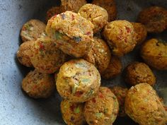 cannellini bean meatballs ( only needs 1 egg) ...make fairly small balls to work!