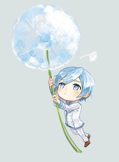 Creds @ 青柑(Cyan)on Pixiv Vocaloid Kaito, Kaito Shion, Kagamine Rin And Len, Aoki Lapis, Mikuo, Kawaii, Hot Anime Guys, Anime Chibi, Cute Pictures