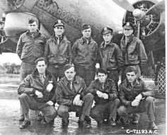 """Ross Pascall Sr., back row, second from left, with the crew of the B-17 """"Bomboogie"""" while stationed in Great Britain during World War II.  """