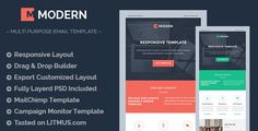 MODERN Responsive Email Template + Builder Access . We at theem'on convert your PSD into beautiful HTML email template making them high quality responsive email with use of all modern coding techniques. We also ensure your email appear best in all major email clients and to ensure the same we use LITMUS to test all our email template
