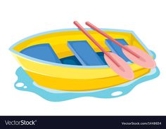 Boat vector image on VectorStock Farm Vector, Boat Vector, Vector Game, Kids Vector, Free Vector Images, Frog Outline, Dinosaur Outline, Alien Vector, Crafts
