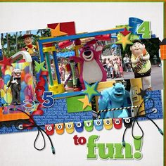 Pixar Pals Countdown to Fun Parade - MouseScrappers.com