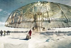 Polar Umbrella Buoyant Skyscraper Protects and Regenerates the Polar Ice Caps   ---  First Place  2013 Skyscraper Competition    Derek Pirozzi  United States