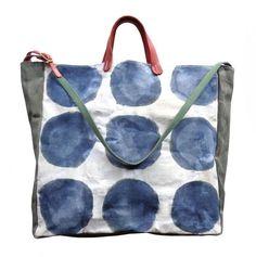 McLovebuddy Indigo Dots Convertible Tote/Bucket/Crossbody Bag