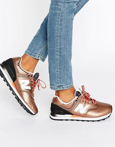 New Balance | New Balance 574 Bronze Metallic Trainers