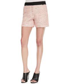 Bel Air Tweed Shorts, Pink at CUSP.