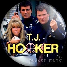 T.J. Hooker - Retro Cult TV Badge/Magnet ~ www.powdermonki.co.uk ~