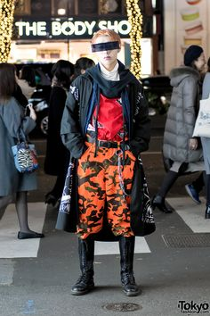Harajuku Street Style w/ Futuristic Sunglasses, Ambush Design Vest & Dr. Martens Boots