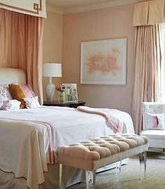 Serene blush tone peach...benjamin moore paint- Queen Anne pink