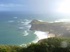 Cape Point, where the two oceans meet, Indian and Atlantic Ocean.