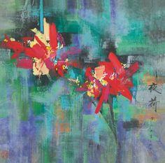 Seeking Beauty - Huang Yongyu (b.1924):Lotus