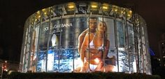Dolce & Gabbana advertisement at the IMAX cinema in London