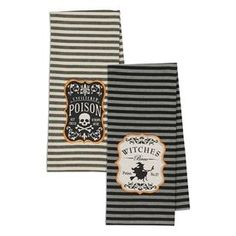 Design Imports Set Of 2 Hocus Pocus Witches Brew Dish Towels Cos34155