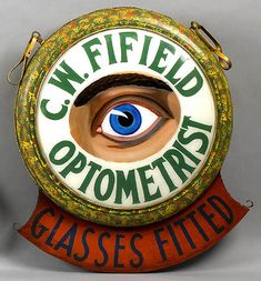 Antique Optometrist Trade Sign sold by Pook and Pook  for $2,300.00