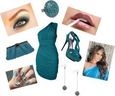 """""""TEAL"""" by aimy21 on Polyvore"""