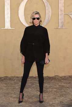 Charlize Theron, Dior Darling, Is All About Edgy Glamour on the Red Carpet Photos | W Magazine