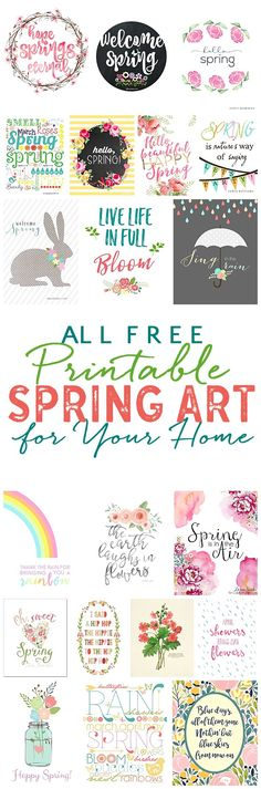 Free printable spring art
