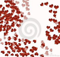 Hearts on white by Graciela Rossi, via Dreamstime