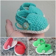 Crochet baby girl sandals 4 patterns Baby girl by Pletionica