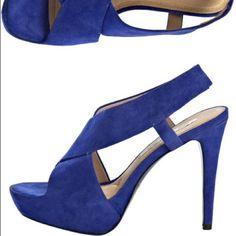 "Spotted while shopping on Poshmark: "" SALE  Blue Zia High Heels suede dvf platform""! #poshmark #fashion #shopping #style #Diane von Furstenberg #Shoes"